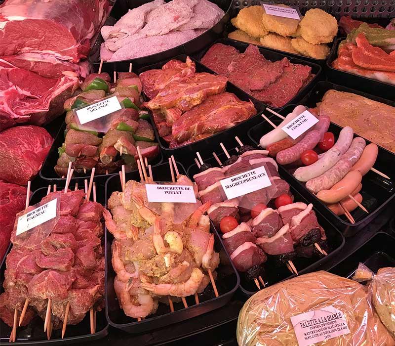 brochettes de viande et grillades de la boucherie kolifrath